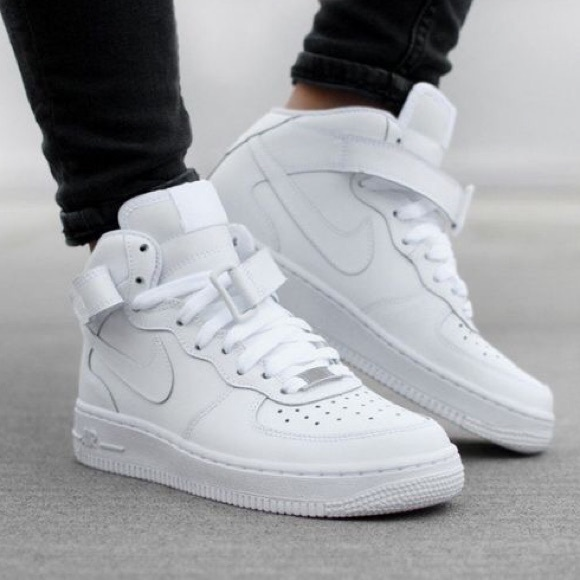 76d4c5d1eeb4 NIKE ID AIR FORCE ONE 1 HIGH TOP WOMEN SHOES WHITE